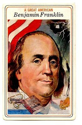 1975 Big Boy Great Americans Trading Card #1 Benjamin Franklin(Humanitarian)