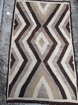 Old Navajo rug, Two Grey Hills traditional colors