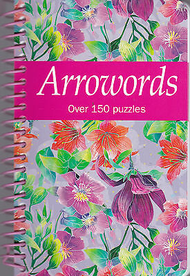 Arrowords Puzzle Book  Over 150 puzzles / spiral bound pocket book - New