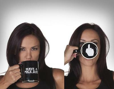 Have a Nice Day coffee mug middle finger Cup christmas new year gift MILK TEA