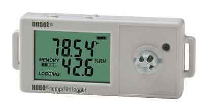 HOBO UX100-011 Temperature/Relative Humidity Data Logger with LCD, 2.5%.