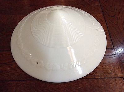 Phoenix Glass  Deco Milk Glass Vintage Ceiling Saucer Shade
