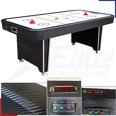 7ft Twister Full Size Electric Air Hockey Games Table 4 Player Carbon Finish