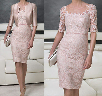 Chiffon Tea Length Mother of the Bride suit outfit Embroidery Wedding Mum Dress