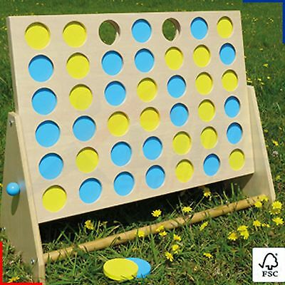 FSC Giant Connect 4 In A Row Family Outdoor Garden Game