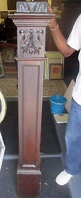 "61"" Tall Antique Victorian Solid Oak Newel Post From A Michigan Estate # 19"