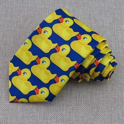 yellow rubber Duck Tie Men's HIMYM How I Met Your Mother Barney's Ducky Tie 8CM