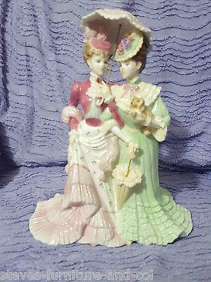 Coalport Figurine Double - A Stroll In Hyde Park - Ltd Edition - Free Uk Sd Post