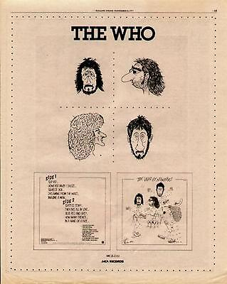 """1975 The Who """"the Who By Numbers"""" Album Promo Ad"""