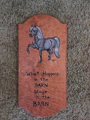 Dapple Grey Pony / Horse Hand Painted On Wood Plaque