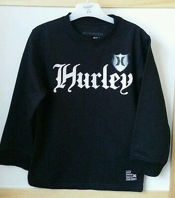 Hurley One & Only Boys BLACK Sweater NEW Heather SIZE 5 6 years Jumper hoody