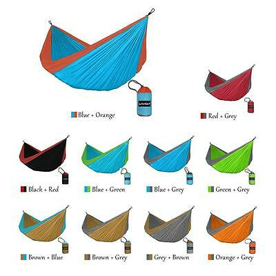 2 Persons Portable Durable Compact Nylon Fabric Traveling Camping Hammock V2V9