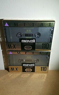 MAXELL MX 110 (×2) : ALLOY METAL COBALT : Made in Japan : NEW & SEALED