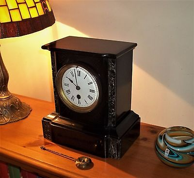 Delightful French Marble Mantle Clock