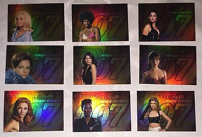 Women of James Bond F1-F9 Femme Fatales Subset Card Set