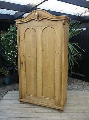 Wow! Stunning! Old Antique Pine Food/linen/storage Cupboard, Child's Wardrobe