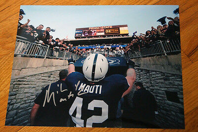 MIKE MAUTI Autographed 8x10 Photo PENN STATE Crowd ONE TEAM Great Picture!