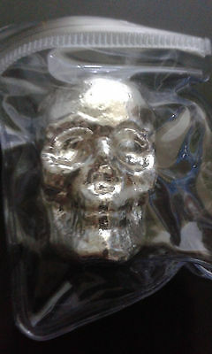 Silver Bullion Poured Skull Monarch Metals 3 Troy Ounce