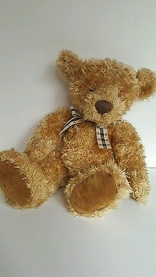 Vintage Russ Cromwell Bear Plush Stuffed Animal by RussBerrie & Co #24127 brown