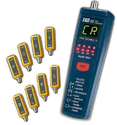 TES TES-45A Cat 5 Lan Cable Tester. Test a Wide Range of UTP Cables