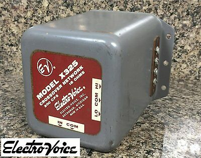Vintage Electro Voice EV X325 16 ohm 300 CPS Crossover Network, SINGLE - Clean