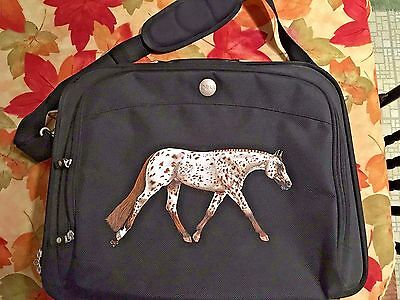 "Leopard Appaloosa Horse Hand Painted On ""Dell"" Computer Bag"