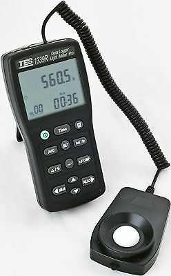 TES TES-1339R Data Logger Light Meter Pro Measures in Lux and Foot-Candles (Fc).