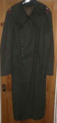 Original WW2 German army greatcoat with large collar channel islands