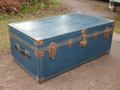 Antique Rustic  Dominion  Chest / Trunk