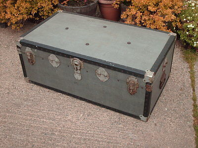 Vintage  Rustic Shabby Chic  Chest / Trunk