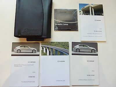 2008 Lexus Is250 Is350 Owners Manual Book Set +Cd W/ Leather Case *free Shipping