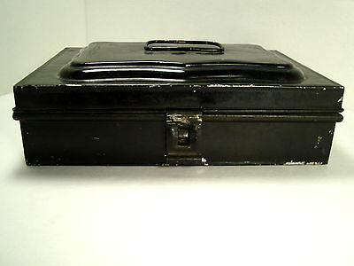 Square Black Antique Primitive Metal Spice Canister Set