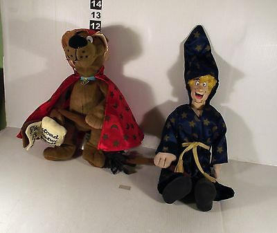 "14"" TALKING SHAGGY & SCOOBY DOO AS WIZARD WITCH - 2 x SOFT TOY"