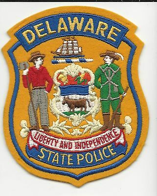 State  Police  Delaware De  with plastic back
