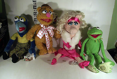 4 Disney Store Muppet Show Soft Toy Kermit The Frog Miss Piggy Great Gonzo Fozzy