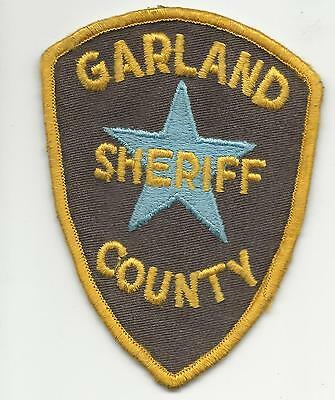 Garland County Sheriff  Arkansas Ar  with cheese cloth back