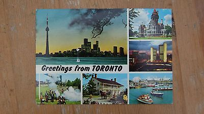 Greetings from Toronto, Canada Multi-view Postcard 1982