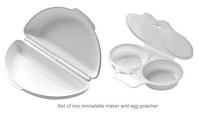 Microwave Omelette Maker Egg Poacher Non Stick Dishwasher Safe Easy Cook