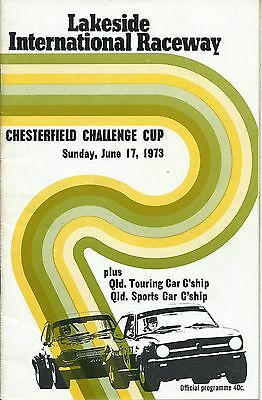 17 June 1973 Lakeside Chesterfield Challenge Cup Official Programme