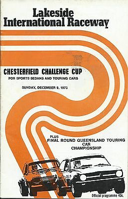 9 Dec 1973 Lakeside Chesterfield Challenge Cup Official Programme
