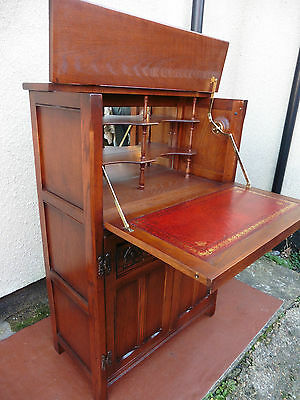Old Charm Wood Bros Oak Drinks Cabinet, Cupboard, Unit, Good Quality & Condition