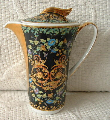 Rosenthal Versace Ikarus Gold Ivy Miniature Coffee Pot / Creamer Boxed