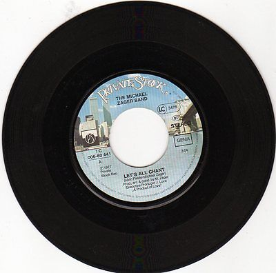 """7"""" Single - Michael Zager Band - Let's all chant"""