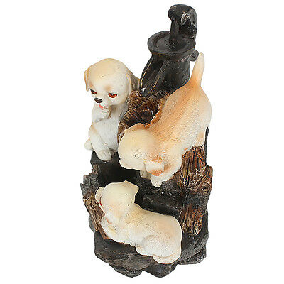 Puppies Playing Water Fountain  | Table Top Poly Resin Fountain