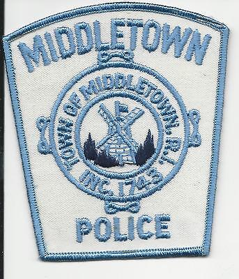 Middletown Police  Rhode Island RI with cloth back