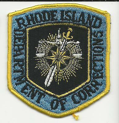 Department of Corrections Rhode Island RI with cloth back