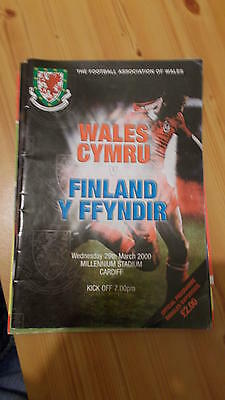 29.3.00 Wales v Finland programme Friendly