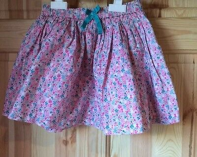 Next Little Girls Fully Lined Pink Floral Skirt 2-3 Years