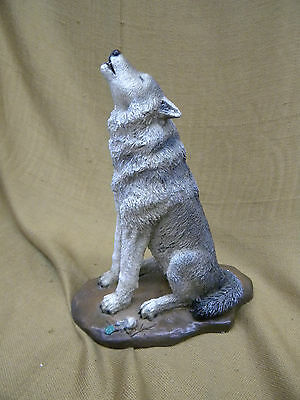 """Living Stone """"Leader of the Pack"""" Howling Wolf Figurine 1989 EUC"""