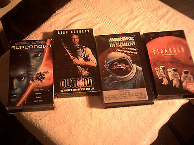 Lot of 5 Science Fiction  Adventure VHS NTSC English Cult  Spave Travel